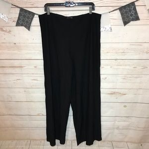 Eileen Fisher Black Viscose Stretch Pull On Pants